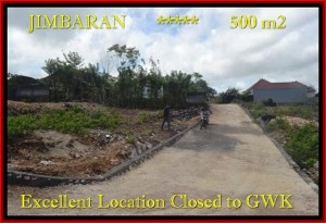Affordable Jimbaran Ungasan BALI 500 m2 LAND FOR SALE TJJI085