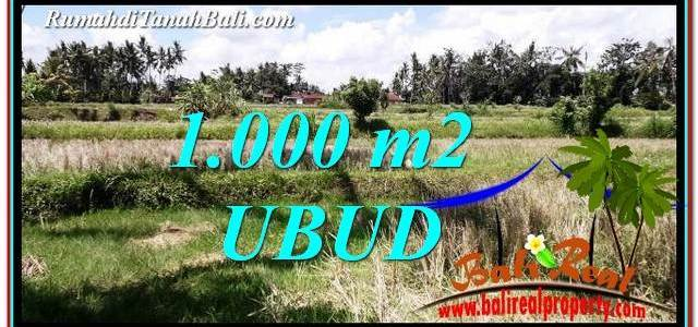 Exotic Ubud Pejeng 1,000 m2 LAND FOR SALE TJUB760