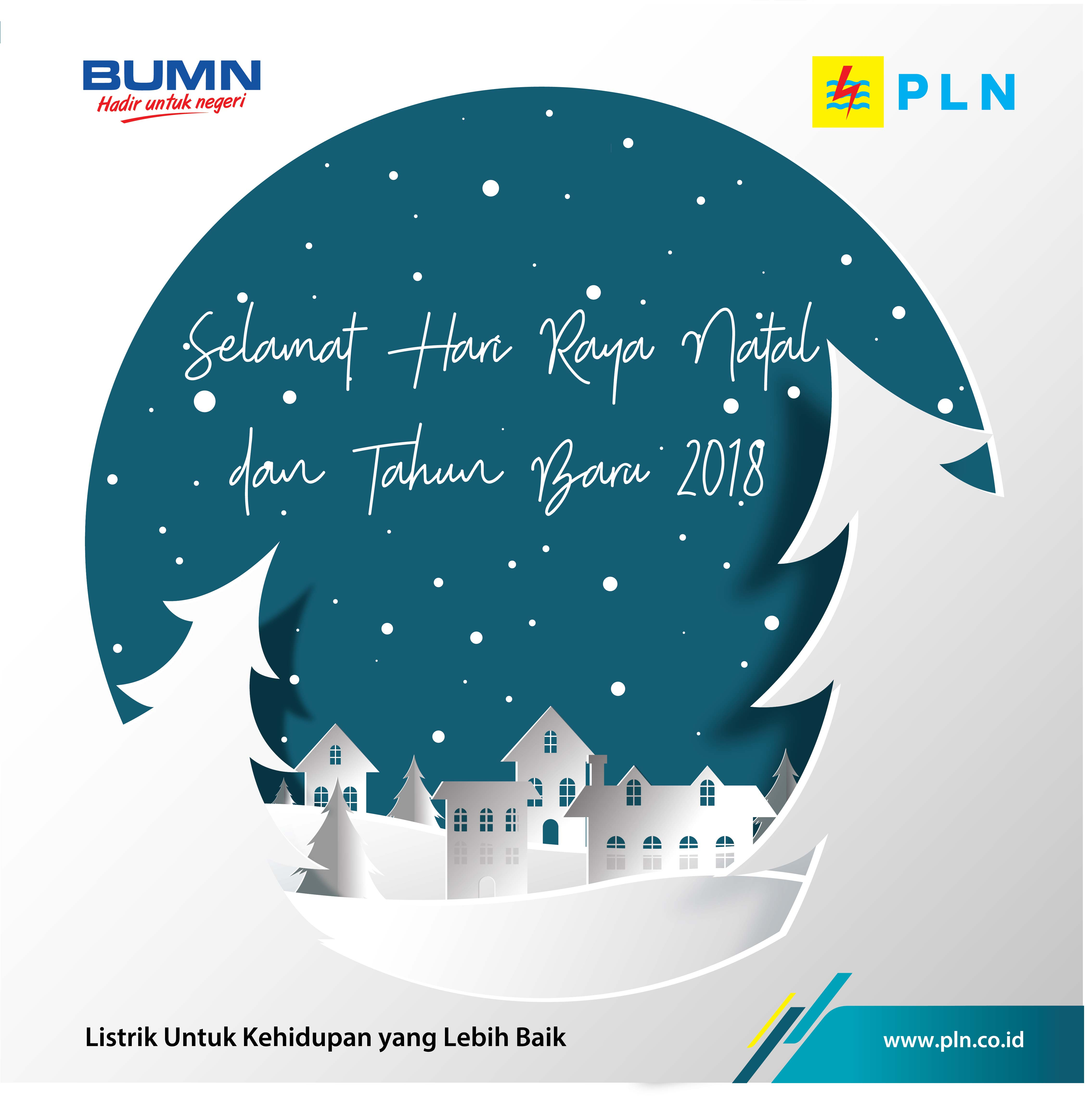 Ucapan Natal Dan Tahun Baru 2018 Pln Bali Bali Ekbis