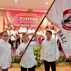 Pengurus Pospera se Bali Dilantik, Dukung Jokowi Dua Periode