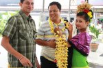 bali, airport, bali airport, bali international airport, arrival, services, flower, girls