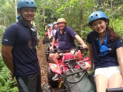amlin singapore, amlin, atv riding, treasure hunt, team building, smile, atv riding, riding