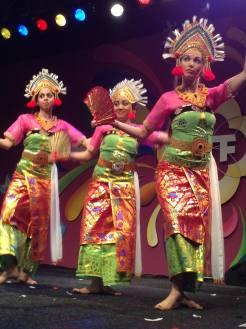 DwiBhumi dances Kembang Girang during the Tong Tong Festival 2013