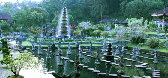 Tirta Gangga Water Park View – East Bali Places to Visit