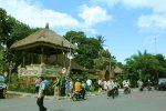 ubud, bali, palace, ubud palace, puri saren, tourists, destinations, tourist destinations