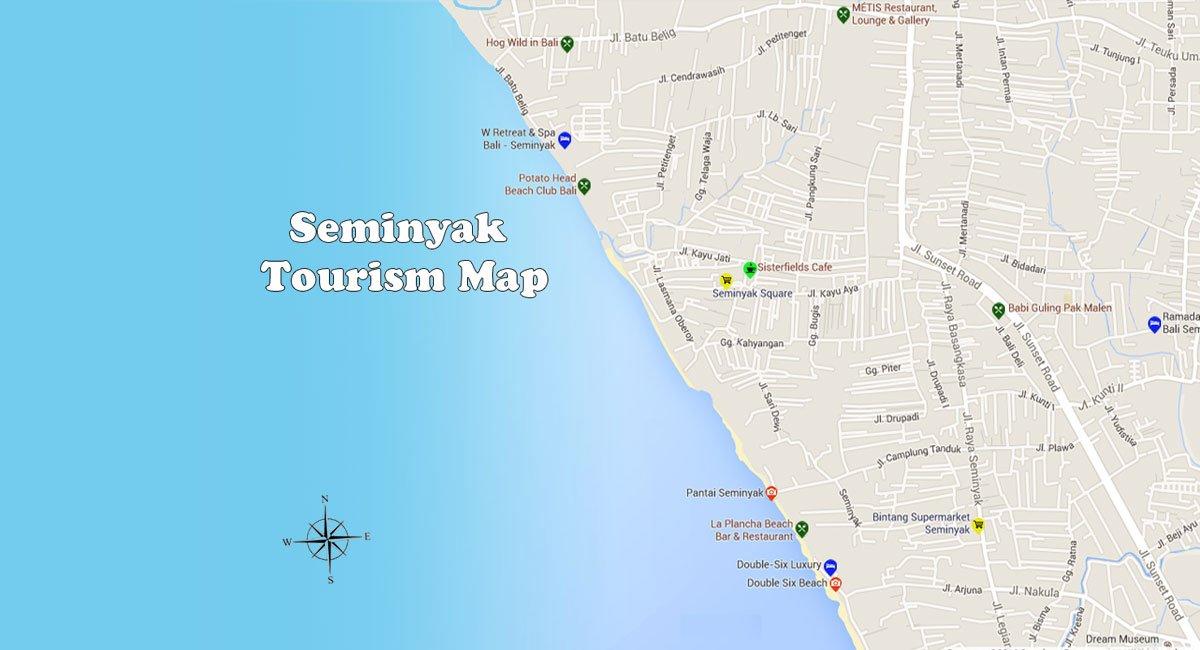 Seminyak Map | Bali Travel Guides