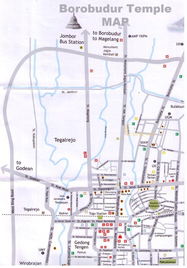 Borobudur Map Yogyakarta Tourism Maps Travel Guides - Yogyakarta map