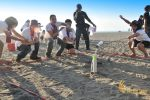 toxic waster game, bali beach team building, beach team building, team building activity