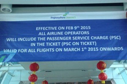 Bali airport tax included after 9 February 2015