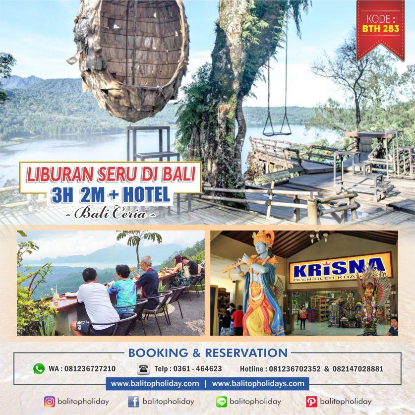 Paket Tour Bali 3H 2M BTH 283 Bali Ceria