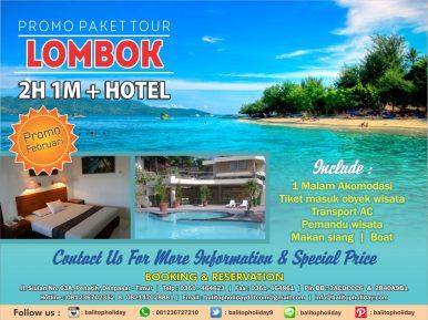 paket tour lombok 2h + 1m
