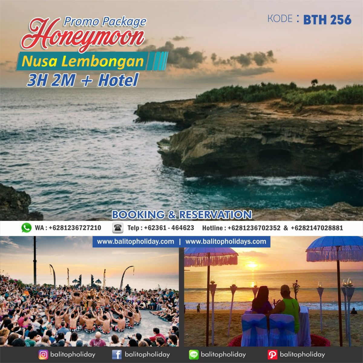 Paket Honeymoon 3H 2M + Lembongan