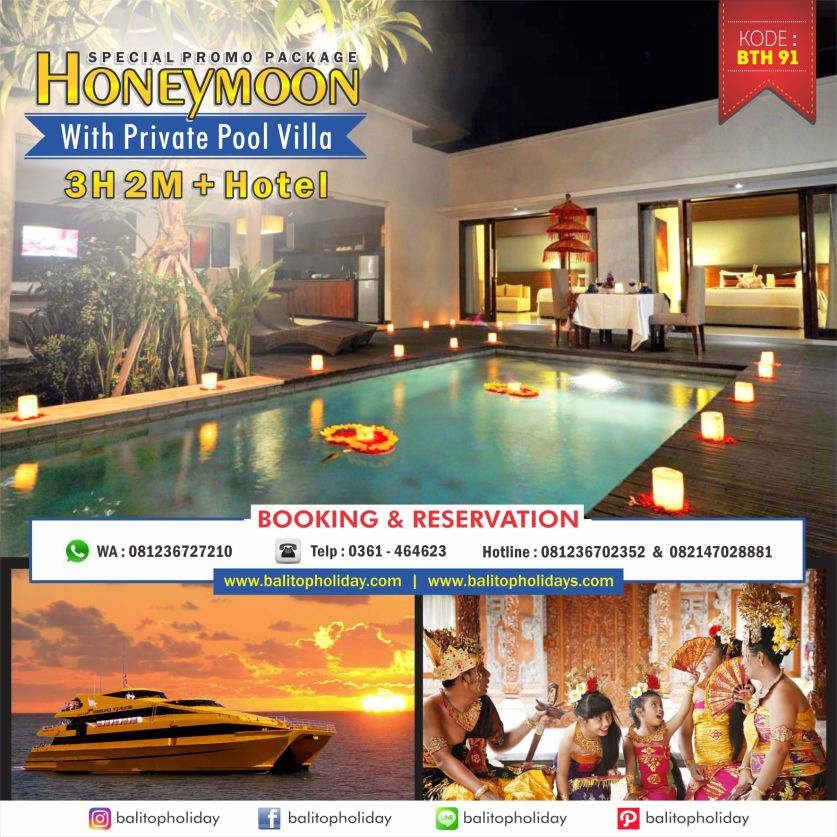 Paket Honeymoon With Private Pool Villa