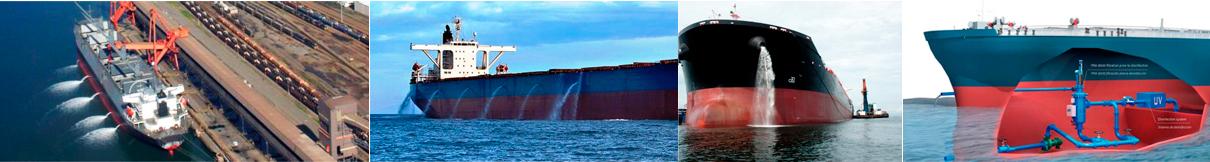 barcos soltando aguas de lastre sin procesar