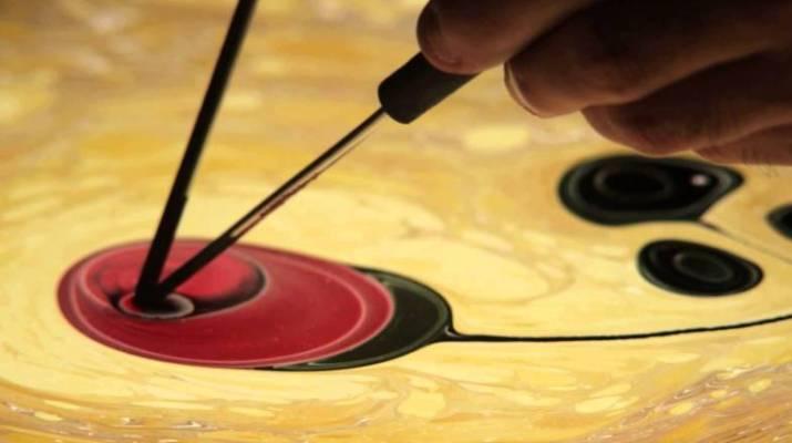 Ebru sanatında Ebru sanatında Gül goncası nasıl yapılır?