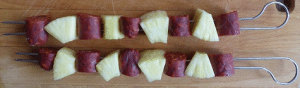 Chorizo - Ananas Spiesse