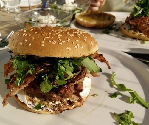 Ziegen-Feigen-Burger