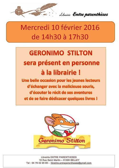 Librairie Entre Parenthèses GERONIMO STILTON ballad et vous