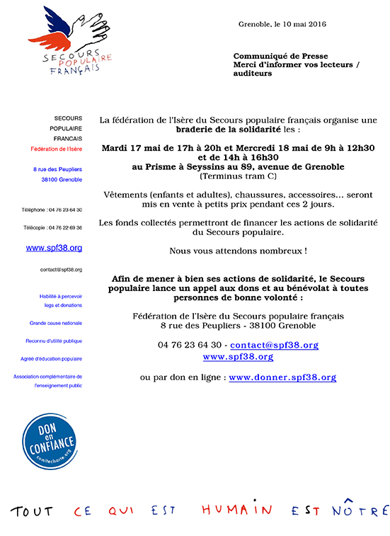 Microsoft Word - CP Braderie Secours populaire.doc