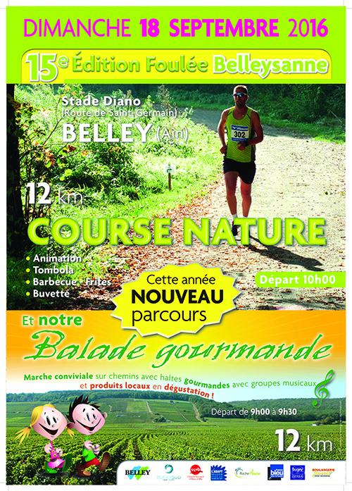 Affiche Foulée Belleysanne 2016 ballad et vous