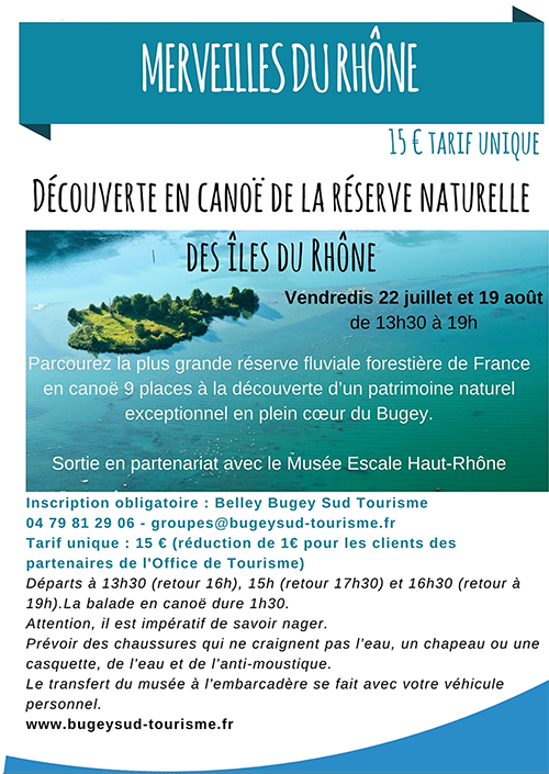 Découverte en canoë de la réserve naturelle des îles du Rhône ballad et vous