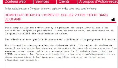 Compter Le Nombre De Mots Et De Caracteres Sur Une Page Web