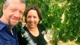 Ballandean Estate Malvasia winemaker Dylan Rhymer and fourth-generation vigneron Robyn Puglisi-Henderson