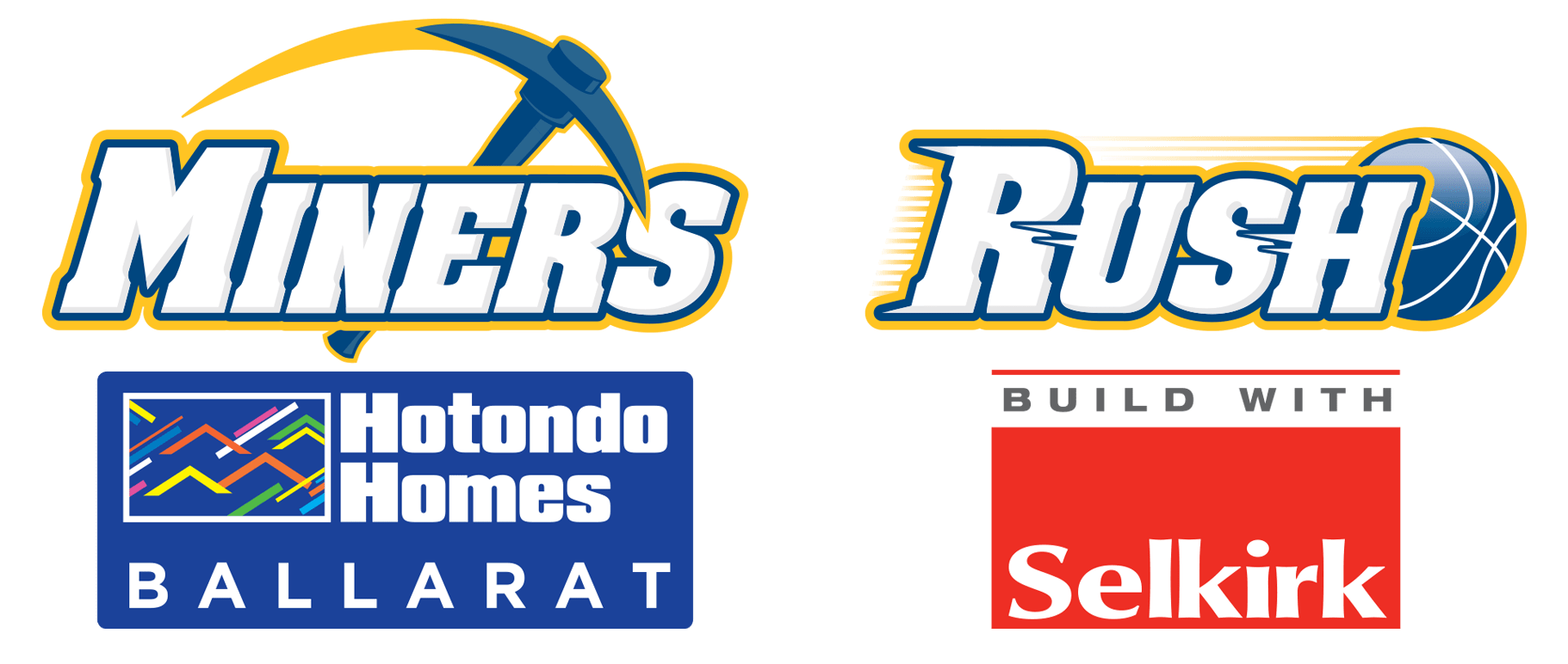 Hotondo Homes Ballarat Miners & Selkirk Rush Senior Elite Team - Joint Logo
