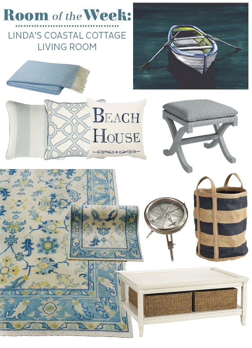Adding Accents To A Coastal Cottage Living Room