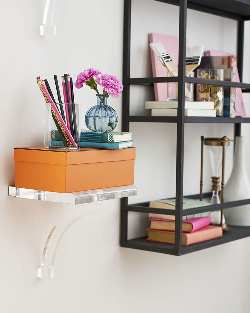 Wall storage in home office