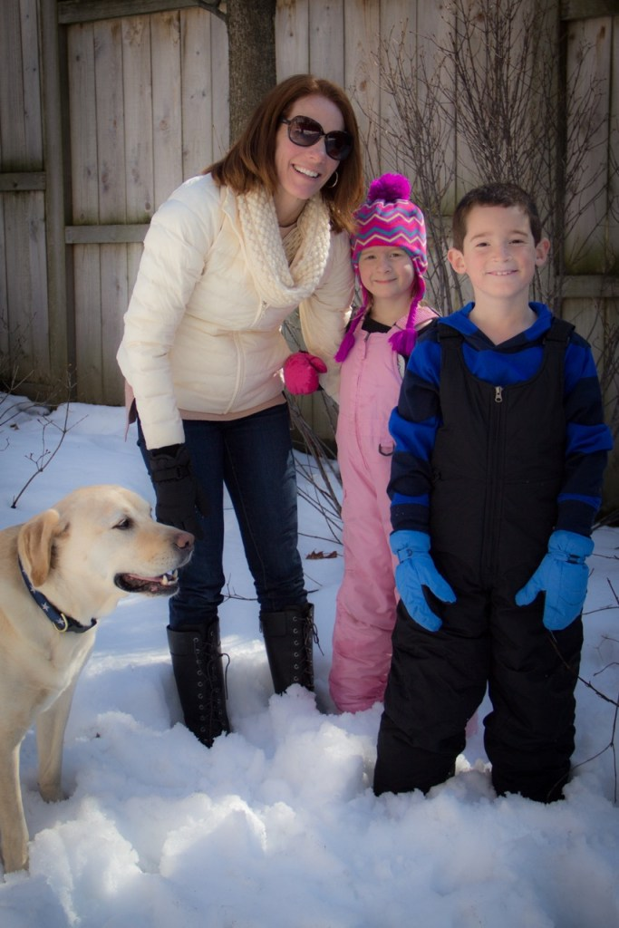 My kids were SO happy to be with Aunt B and Tex playing in the snow!