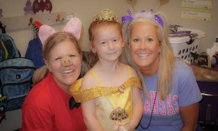 Morgan's Halloween party…