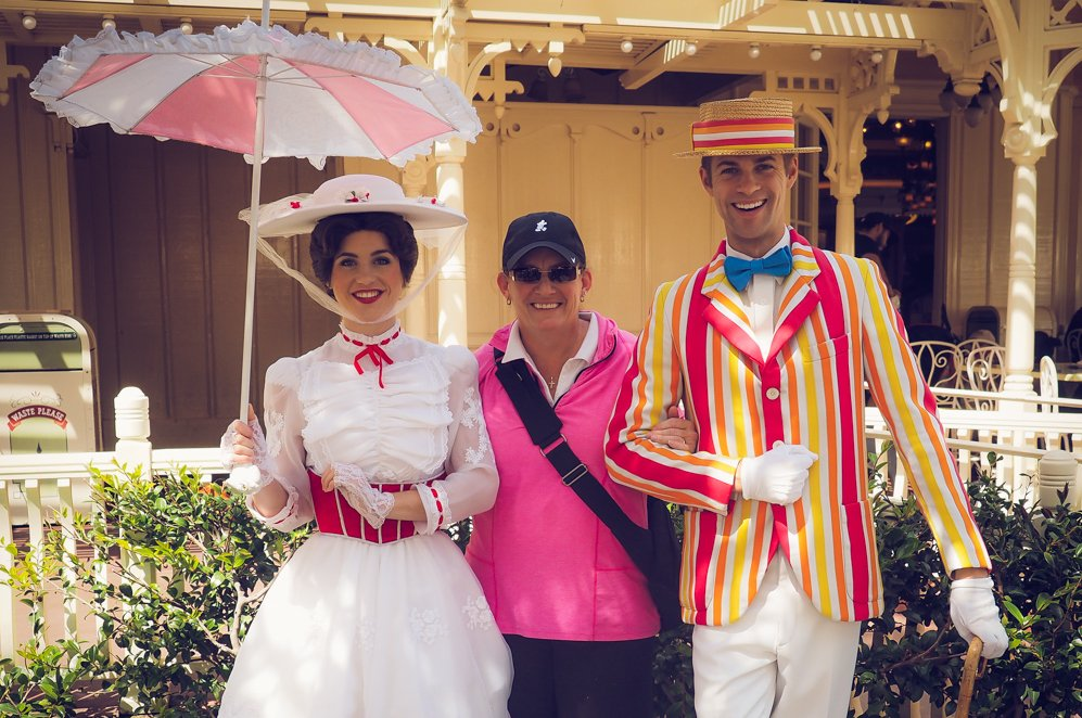 ball cap mom, mary poppins and bert