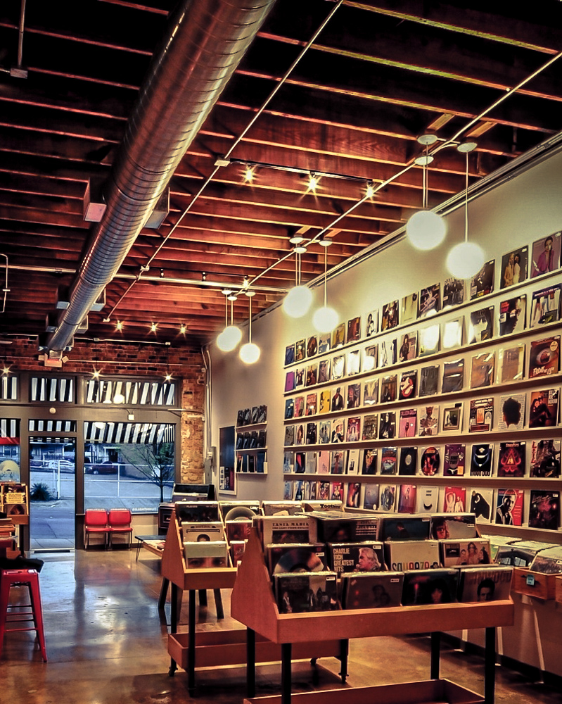 Spinster Records in Oak Cliff in the Bishop Arts District