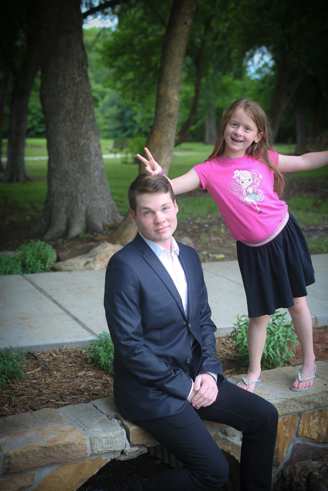 My little assistant began to lose interest in the photo shoot, so I got a few shots of her photo-bombing our pictures!