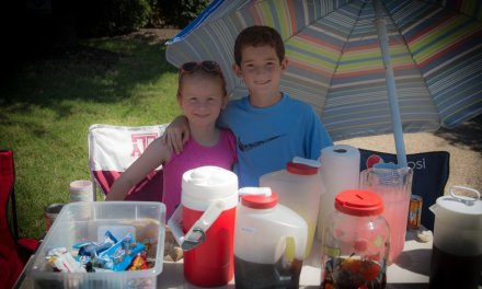 Our First Lemonade Stand of the Summer…