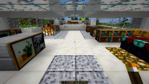 Here is a screenshot of the inside of one of the houses we (I mean Zach) built.