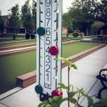 This is a typical Bocce Ball scoring tower that you will find on most Bocce courts!