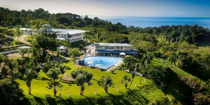 Cristal Ballena Aerial View, Perfect for bird watching and wildlife holydays in Costa Rica