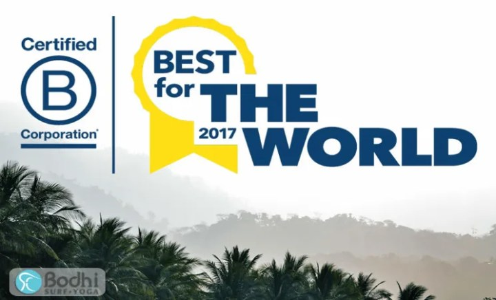 """Bodhi Surf + Yoga recognized as """"Best for the World: Community"""""""