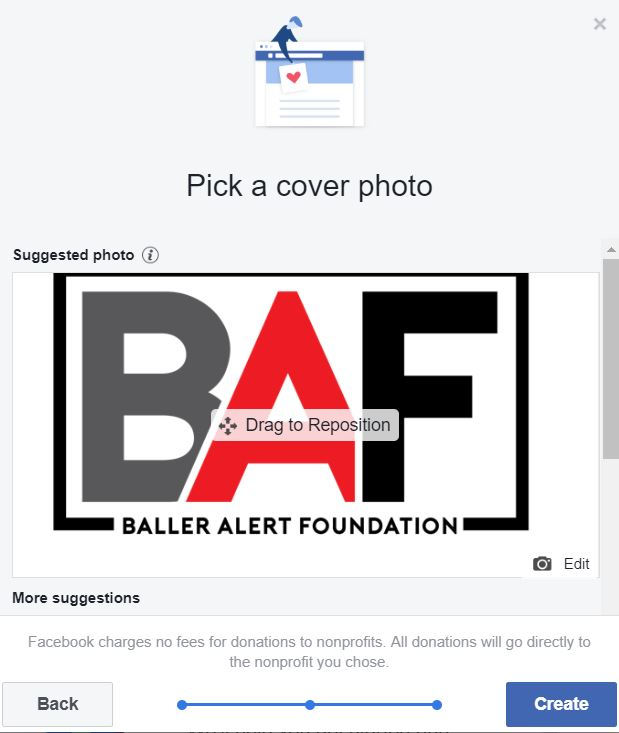 Baller Alert Foundation Facebook Birthday Donation