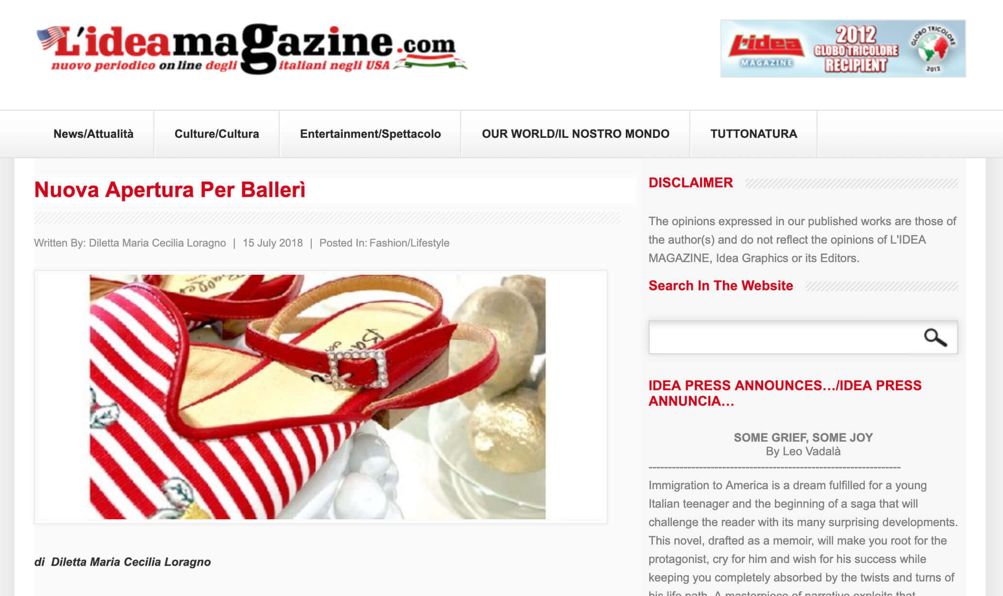Idea Magazine Balleri Sorrento