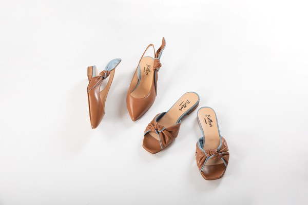 Sandalo a punta quadrata Dea Pelle Cuoio/Polvere - 4