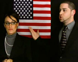 John Brown and Sarah Palin look-a-like in his new video (Photo: Ghetto Revival)
