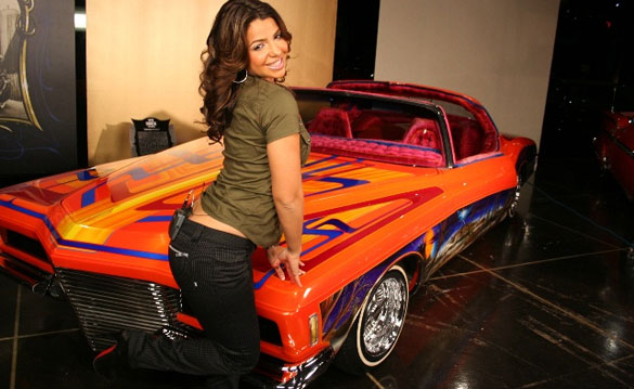 Vida Guerra on the set of 'Livin' The Low Life'