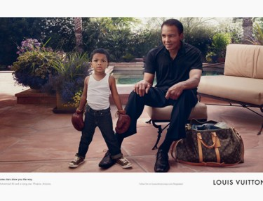 Muhammad Ali and grandson featured in Louis Vuitton ad
