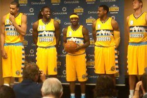 2012-13 Denver Nuggets uniforms