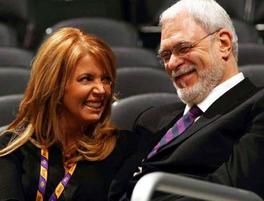 Phil Jackson and Jeanie Buss