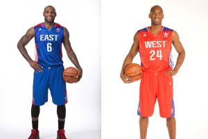 Lebron James (left) and Kobe Bryant (right)