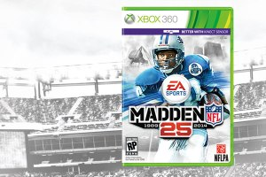 Barry Sanders on cover of Madden 25
